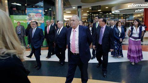 Manuel Jove, durante la inauguración del centro comercial Marineda, en A Coruña