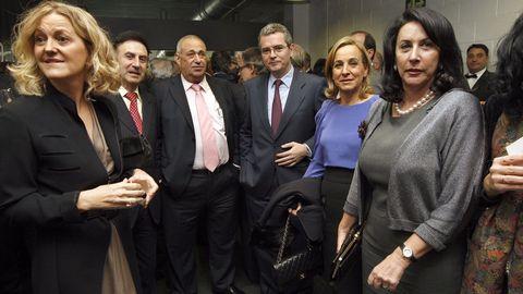 Jove, junto a Flora Pérez Marcote, Pablo Isla y María Pilar Romero en la entrega del quincuagésimo primer premio Fernández Latorre