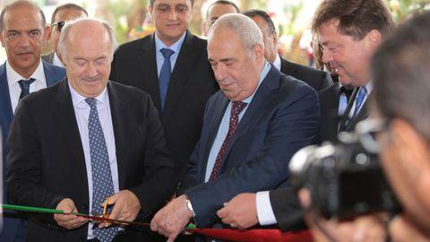 Inauguración del Hilton Tanger City Center en Marruecos. Junto a Manuel Jove está Rudi Jagersbacher, presidente de Hilton para el Medio Este, África y Turquía