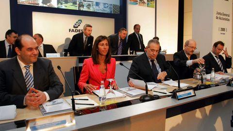 Jove, durante la junta general de accionistas de Fadesa en el año 2005