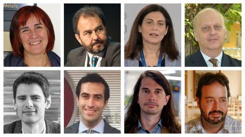 Ana María García, Antoni Plasencia, Raquel Yotti, Manuel Cuenca, Miguel Hernán, Carlos Cuerpo, Borja Barragué y José Fernández Albertos (De izquierda a derecha)