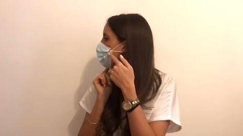 Uxía Fernández, médica del CHUAC, nos explica algún truco para usar las mascarillas