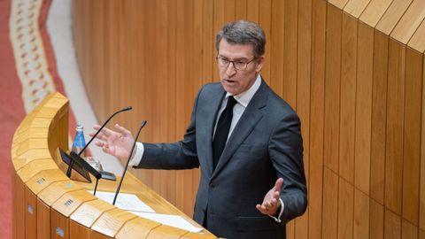 Feijoo, en su última comparecencia en el Parlamento el miércoles, sigue teniendo intacta su prerrogativa para convocar elecciones