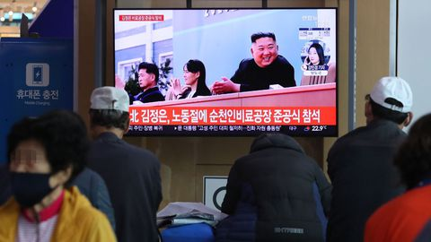 El líder norcoreano felicitó al gobierno de Pekín por su gestión