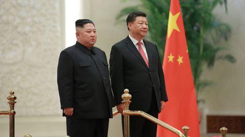 Los mandatarios de Corea del Norte y de China se enviaron mensajes