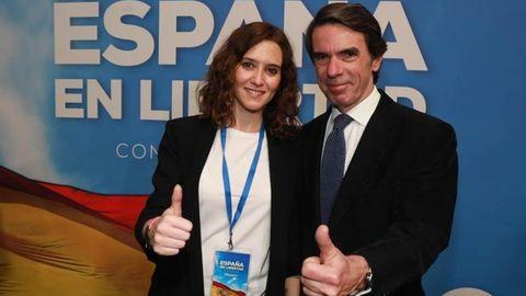 EN DIRECTO   El expresidente José María Aznar y la presidenta de la Comunidad de Madrid charlan sobre la actualidad