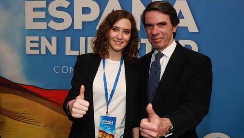 Ayuso y Aznar, durante la pasada convención  nacional del PP