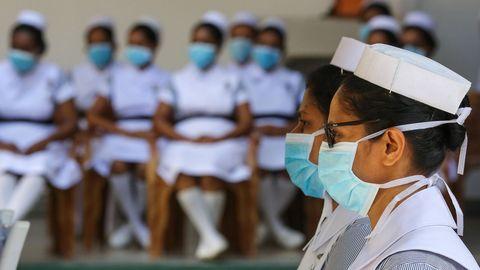 En Colombo, Sri Lanka, también celebraron el Día Mundial de la Enfermería