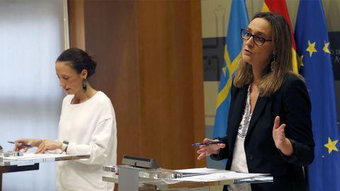 Melania Álvarez y Rita Camblor