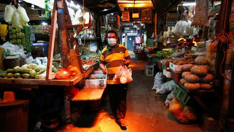 Mercado en Jakarta, Indonesia