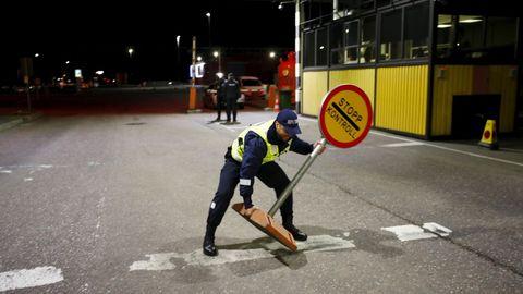 Retirada de una señal de control en la frontera de Estonia