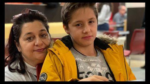 Miriam Gallego, con su hijo, antes del confinamiento
