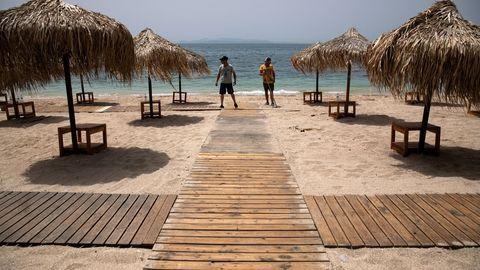 Una playa de Grecia