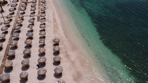 Una playa de Atenas, en Grecia