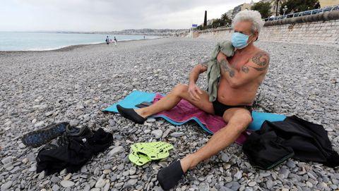 Playa de Promenade des Anglais, en Francia