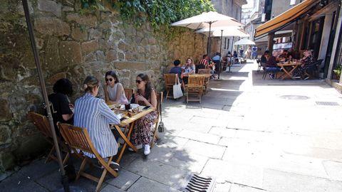 Las terrazas de Pontevedra, a rebosar