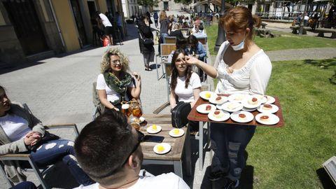 Lugo, la ciudad de las tapas, recuperó en cierto modo la normalidad