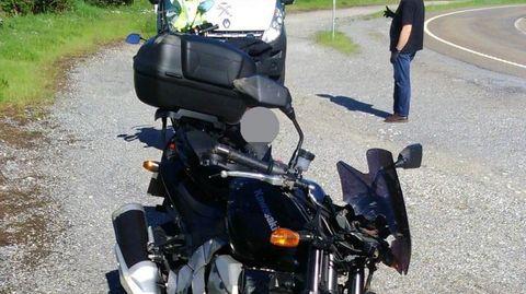 Imagen de la moto accidentada