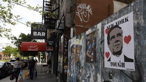 Imagen, ayer, de una calle de Nueva York, en la zona de Little Italy