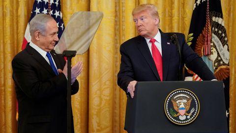 Netanyahu y Trup, durante su último encuentro el pasado 28 de enero
