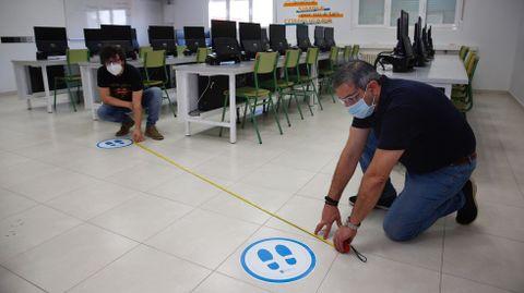El IES de Montecelo, en Pontevedra, se prepara para las clases del próximo lunes