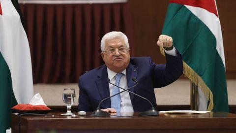 Mahmud Abás leyó un comunicado presidencial calcado al que emitió en el 2018 cuando Trump reconoció Jerusalén como capital de Israel