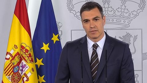Pedro Sánchez, durante su comparecencia del sábado