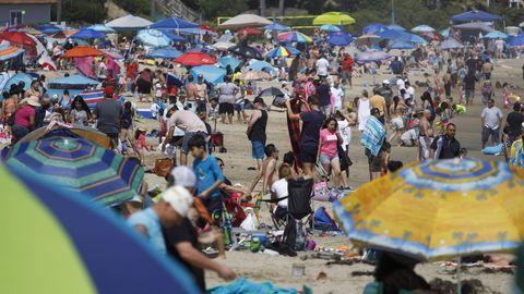 Algunas playas de California se llenaron el pasado fin de semana