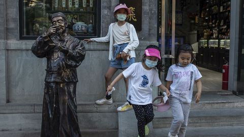 Las mascarillas están totalmente normalizadas en China