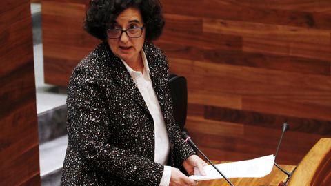 La consejera de Cultura, Berta Piñán, en la Junta General