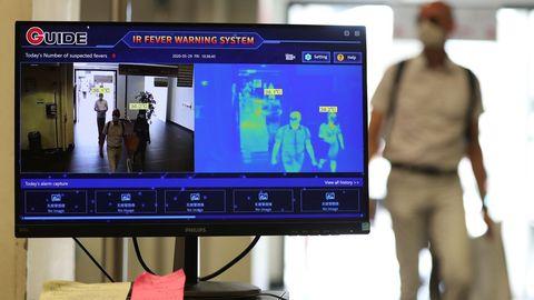 En Amberes, el acceso al Hospital Universitario está controlado por cámaras térmicas