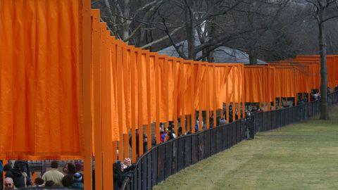 La obra «The Gates», presentada en Central Park, en febrero del 2005