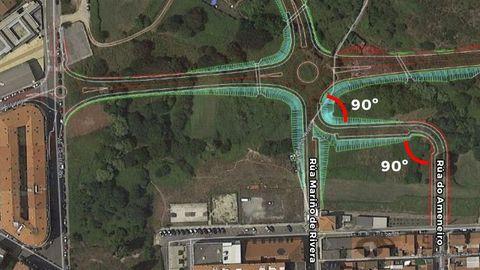 La plataforma afirma que la creación de la dos rotondas de la imagen del trazado oficial podrían acabar congestionando el tráfico en la calle Miguel Rodríguez Bautista