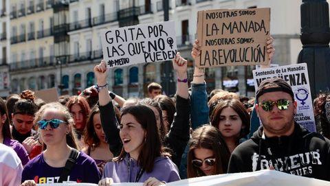 Manifestación contras la sentencia de La Manada
