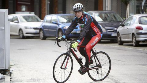 Tras recuperarse, Díaz del Valle fue de los primeros en coger la bici