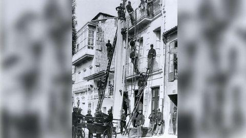 Una imagen de ejercicios en 1925 del archivo de Ángel Llanos