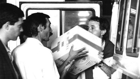 Documentación incautada en la operación Nécora en el pazo Baión