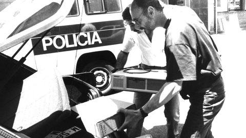 Un ordenador incautado por la policía en el marco de la operación Nécora