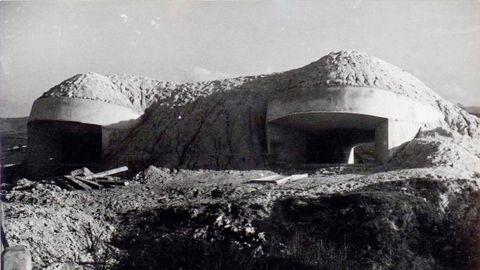 Posiciones artilleras de hormigón del ejército republicano en el frente de Oviedo, 1937-1937
