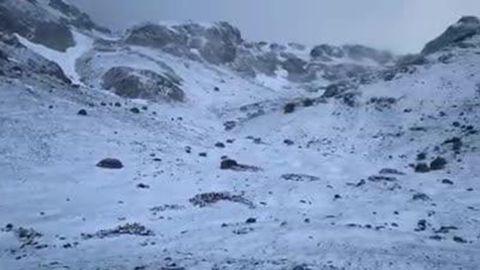 Nieve en Asturias en el mes de junio