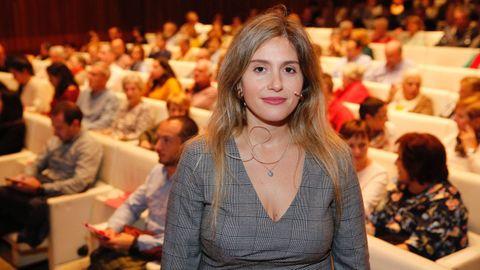 Cristina Tejera, en su intervención en el Ciclo Mesas Saludables, de La Voz