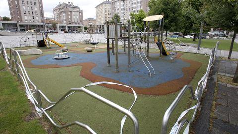 El de Augas Férreas es uno de los parques más concurridos por los niños lucenses