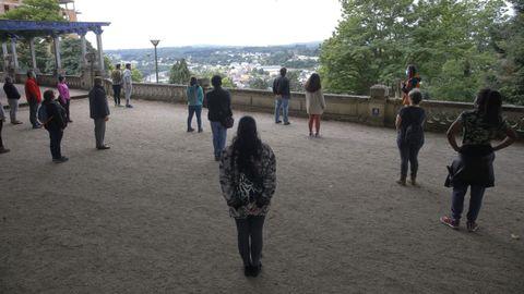 A visita partiu do parque de Rosalía