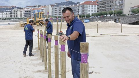 Comienza la parcelación en la playa de Silgar, en Sanxenxo.