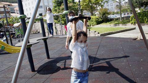 Parque infantil de Porto do Son, esta mañana.