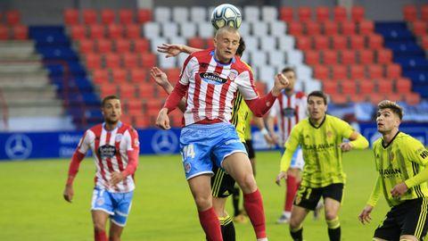 Partido entre el Lugo y el Zaragoza