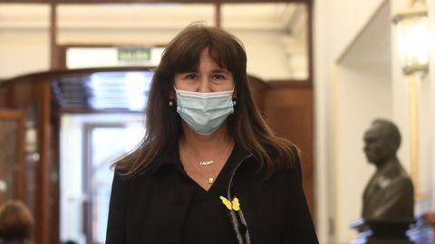 Laura Borràs, en el Congreso de los Diputados