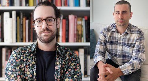 Miguel Otero (derecha) vive en Santiago y Gabriel Rodríguez (izquierda), en Madrid, pero se ven a menudo