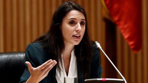 Irene Montero, el pasado 18 de junio en el Congreso