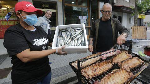 Churrascada y sardiñada en el bar Espeto, en A Coruña